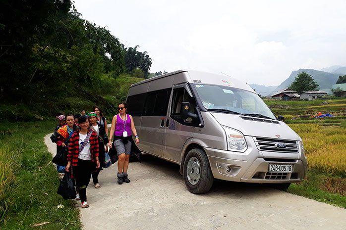 Xe tham quan Thung Lũng Mường Hoa - Bản Hồ